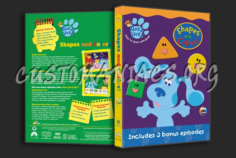 Blue's Clues: Shapes And Colors! Dvd Cover