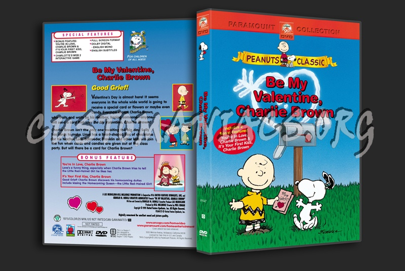Be My Valentine Charlie Brown Dvd Cover DVD Covers