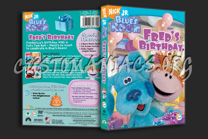 Blue S Room Fred S Birthday Dvd Cover Dvd Covers