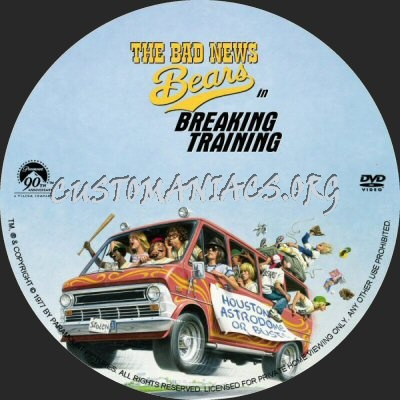 The Bad News Bears in Breaking Training dvd label