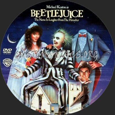Beetlejuice dvd label