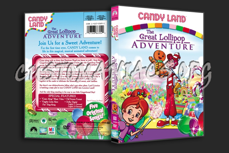 Candyland The Great Lollipop Adventure dvd cover - DVD