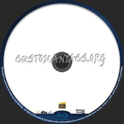 Blu-Ray dvd label