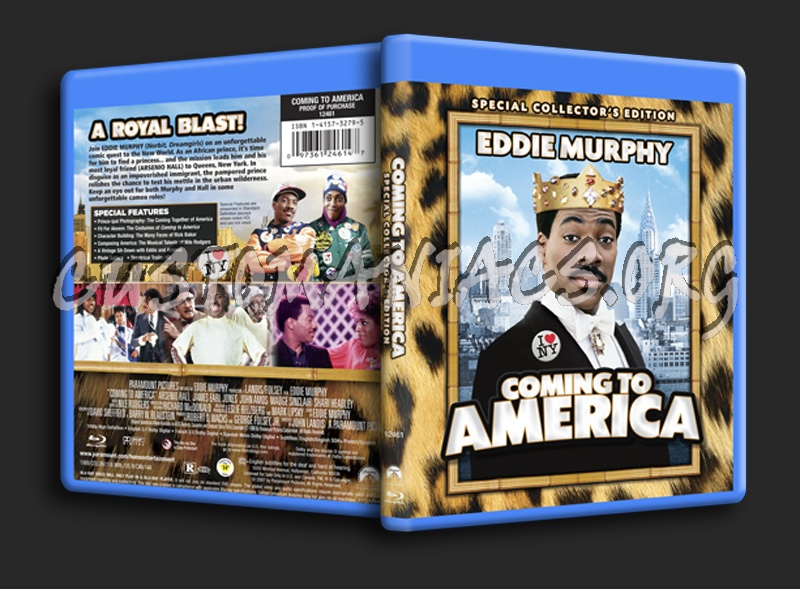 Coming to America blu-ray cover