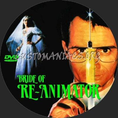 Bride of Re-Animator dvd label