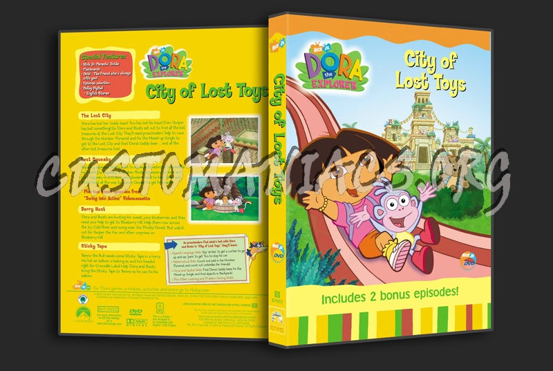 Dora the Explorer: City of Lost Toys dvd cover