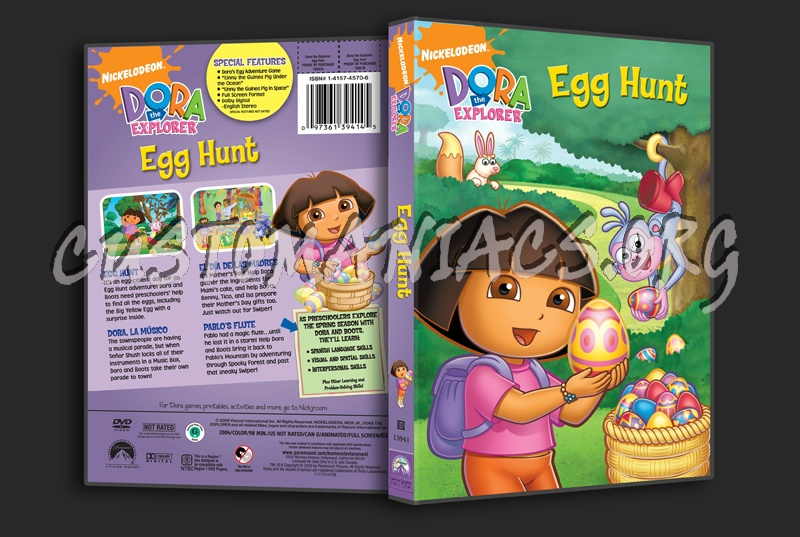 Dora the Explorer: Egg Hunt dvd cover - DVD Covers & Labels by