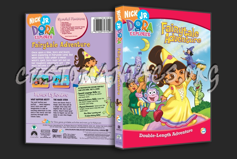 Dora the Explorer: Fairytale Adventures dvd cover
