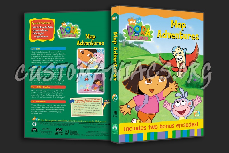 Dora The Explorer Map Adventures Dvd Cover Dvd Covers Labels By Customaniacs Id 53828 Free Download Highres Dvd Cover