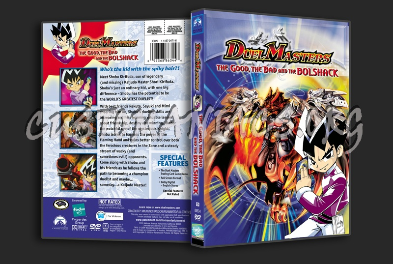 Duel Masters: The Good, The Bad and the Bolshack dvd cover