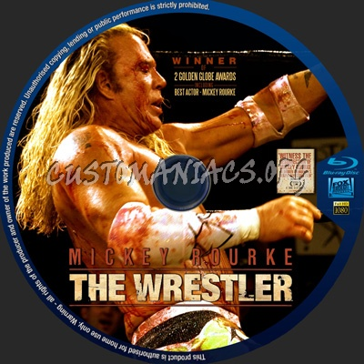 The Wrestler blu-ray label