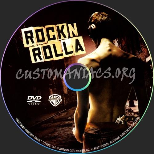RocknRolla dvd label