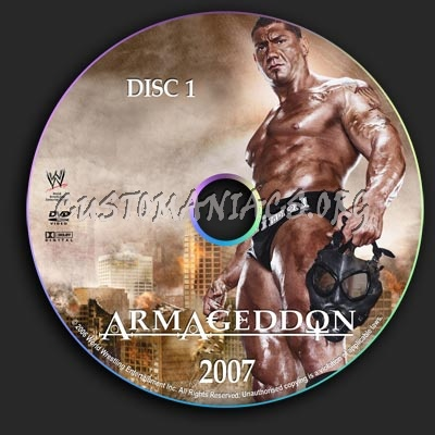 WWE - Armageddon 2007 dvd label