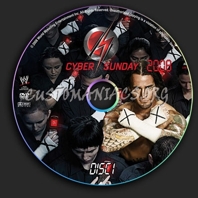 WWE - Cyber Sunday 2008 dvd label