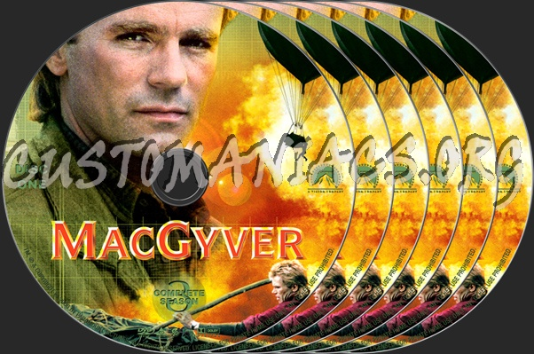 MacGyver Season 3 dvd label