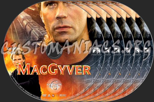 MacGyver Season 6 dvd label