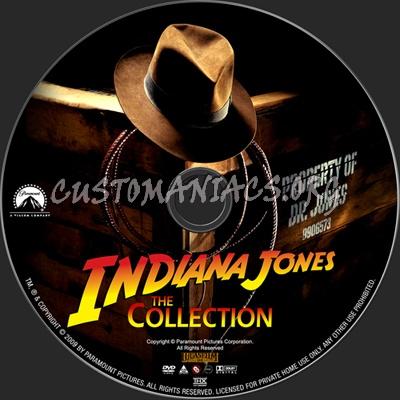 Indiana Jones Collection dvd label