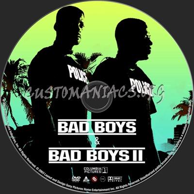 Bad Boys 1 & 2 dvd label