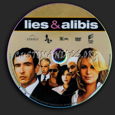 Lies & Alibis dvd label