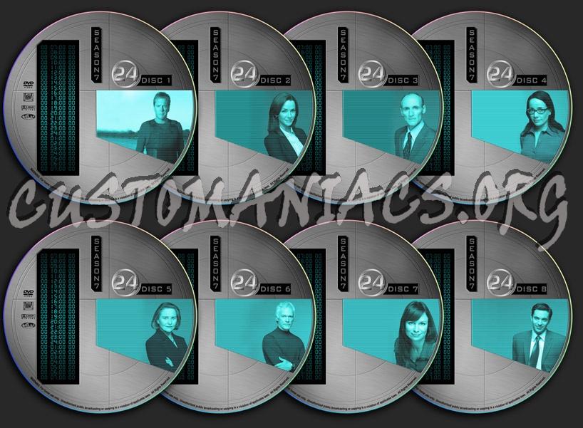 24 - Season 7 (Twenty Four) dvd label