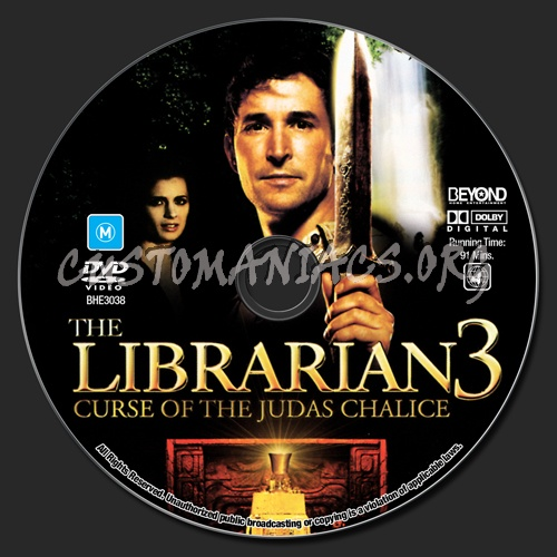 The Librarian 3 - Curse Of The Judas Chalice dvd label