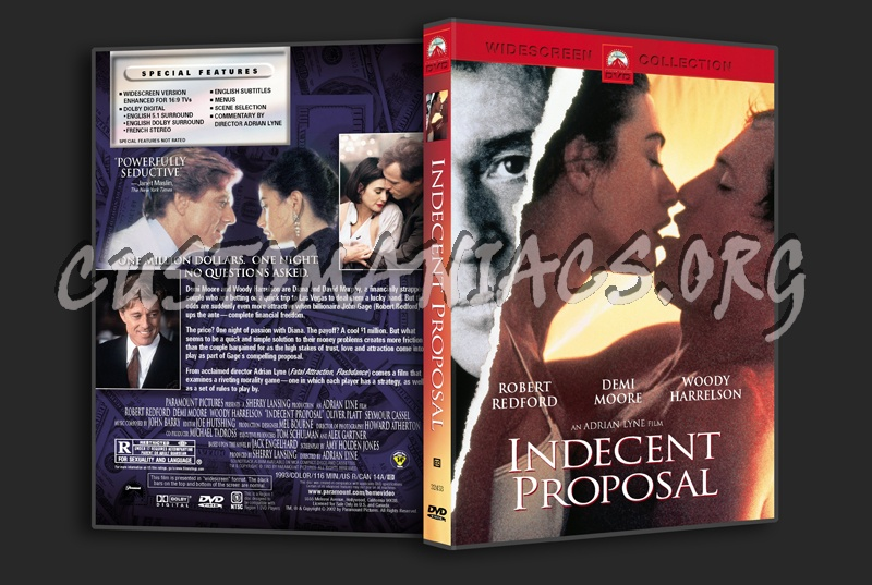 Indecent Proposal dvd cover