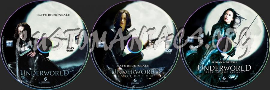 Underworld 1-3 dvd label