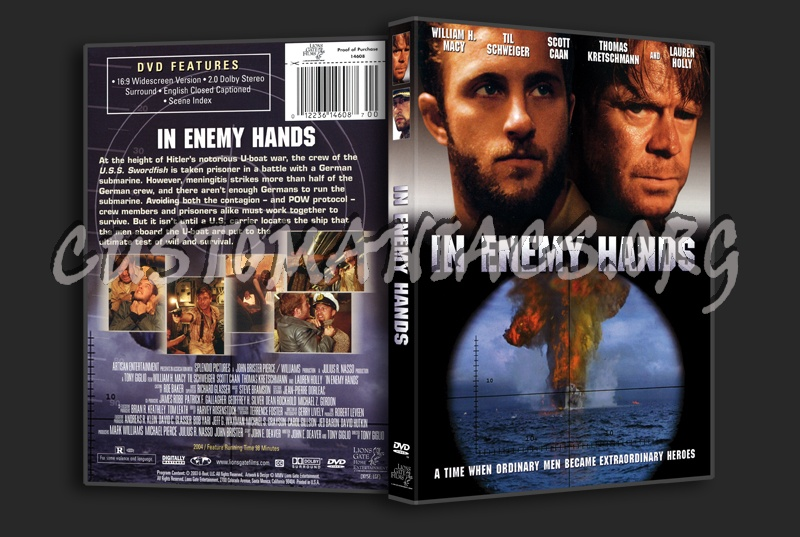 In Enemy Hands dvd cover