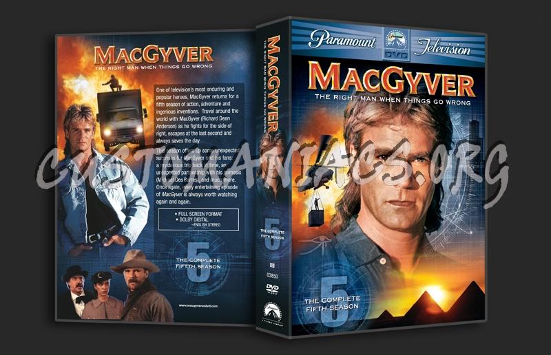MacGyver Season 5 dvd cover