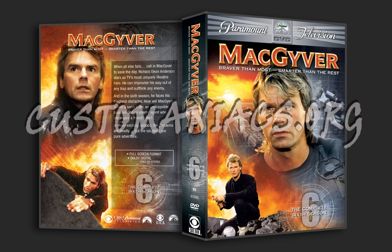 MacGyver Season 6 dvd cover