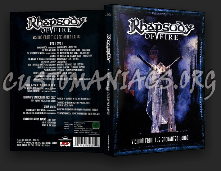 Rhapsody of Fire: Visions from the Enchanted Lands dvd cover