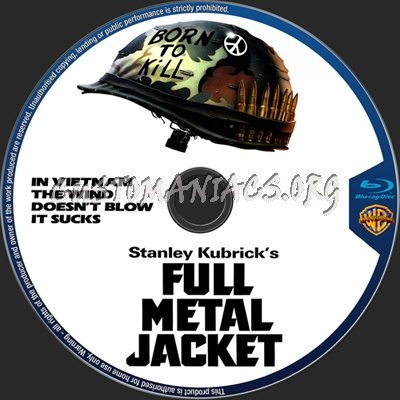 Ful Metal Jacket blu-ray label