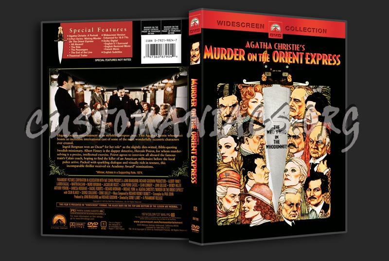 Murder on the Orient Express dvd cover