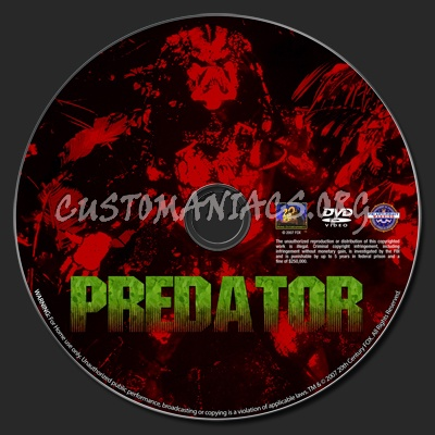 Predator dvd label