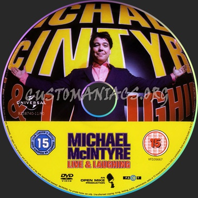 Michael Mcintyre - Live & Laughing dvd label