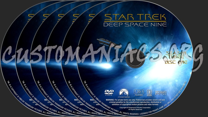 Star Trek Deep Space Nine Season 3 dvd label