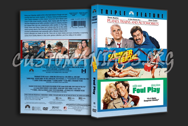 Planes, Trains and Automobiles / Summer Rental / Foul Play dvd cover