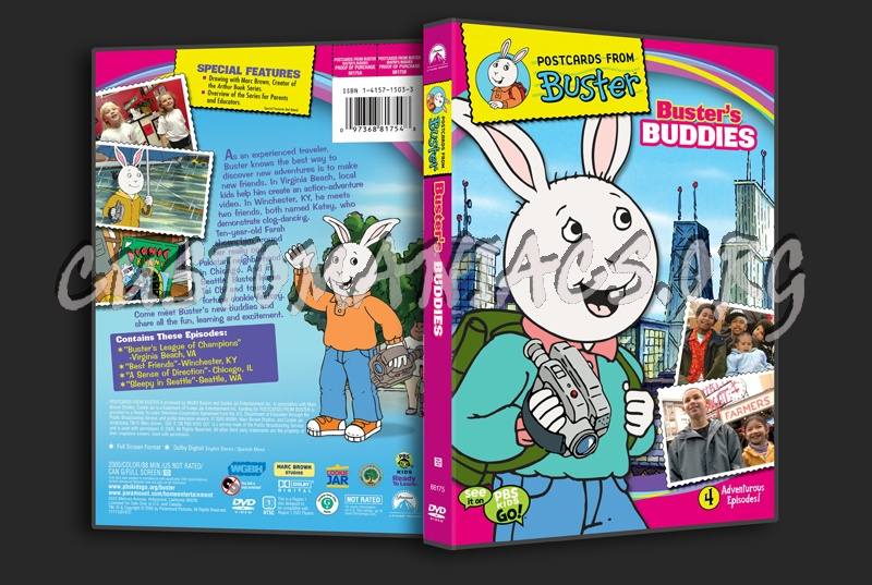 Postcard from Buster: Buster's Buddies dvd cover