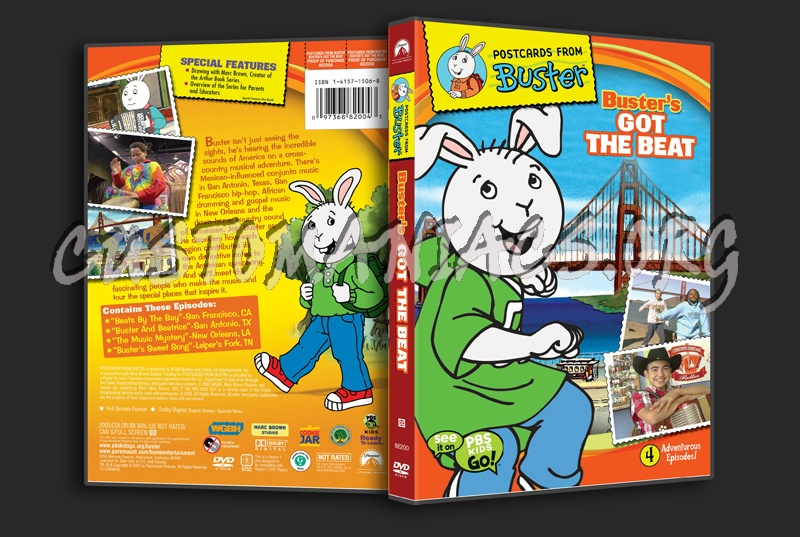 Postcard from Buster: Buster's Got the Beat dvd cover