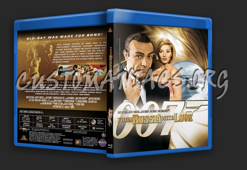 James Bond: From Russia With Love blu-ray cover