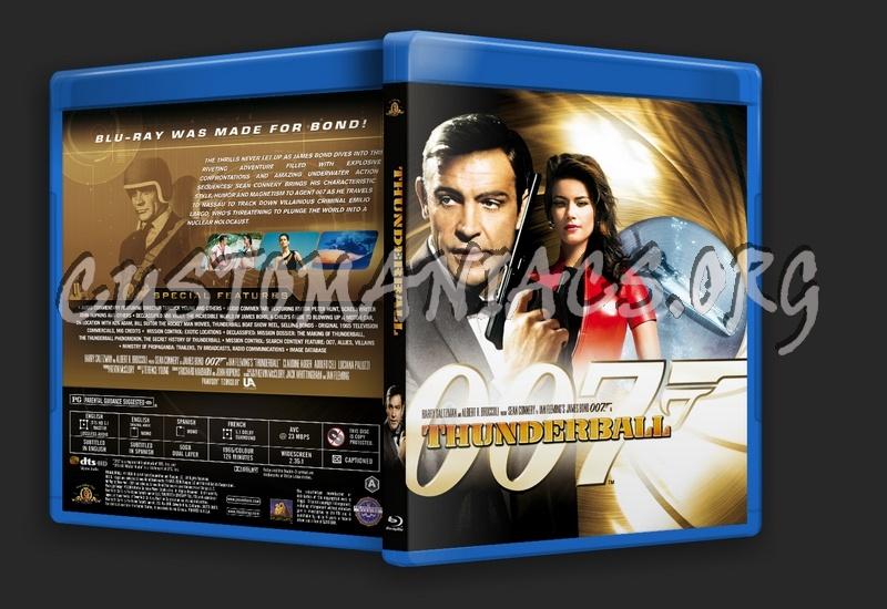 James Bond: Thunderball blu-ray cover