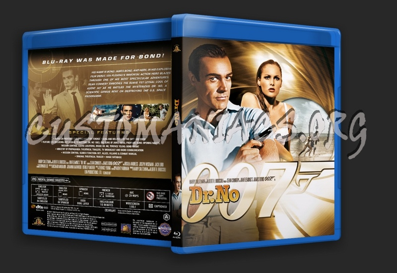 James Bond: Dr. No blu-ray cover