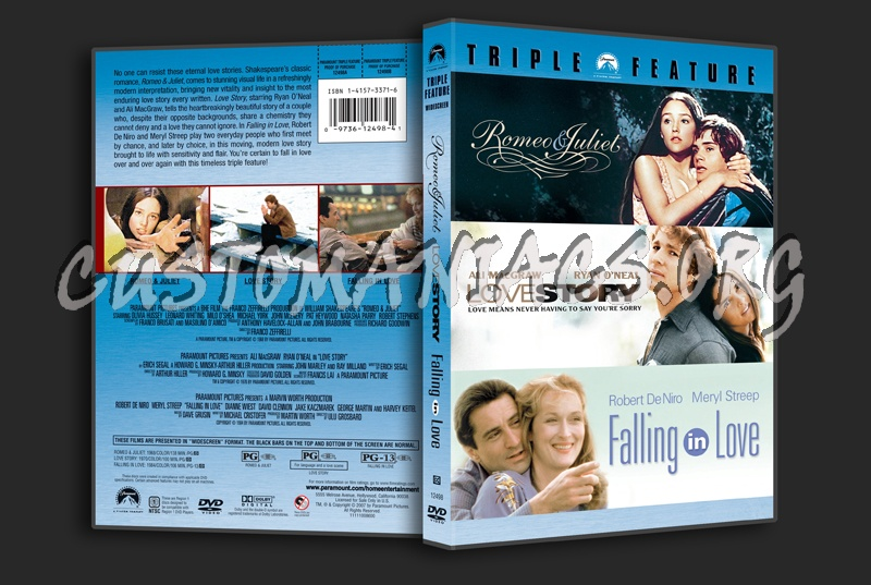 Romeo & Juliet / Love Story / Falling in Love dvd cover