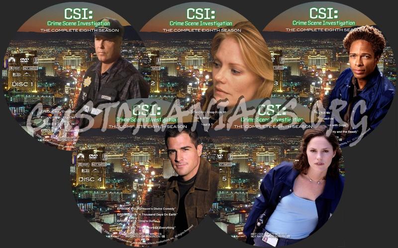 CSI Season 8 dvd label