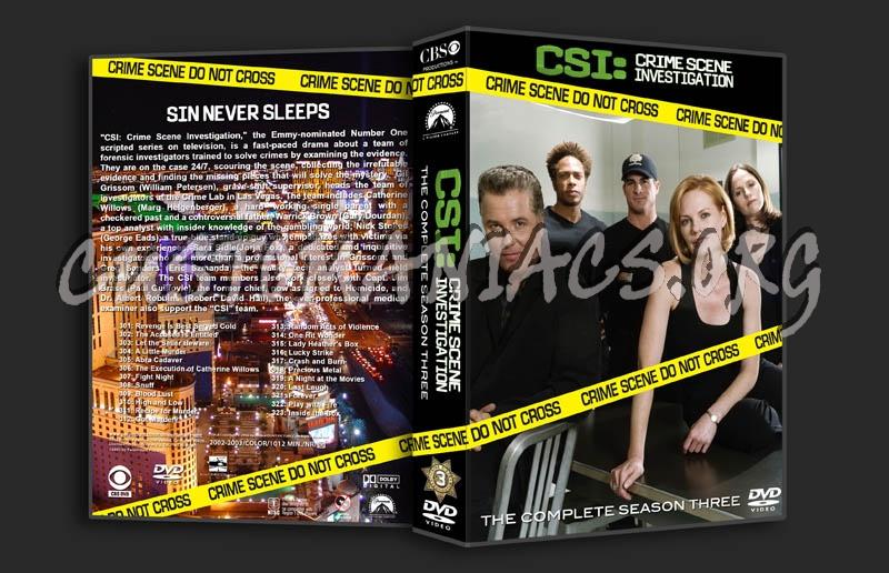 CSI Season 3 dvd cover