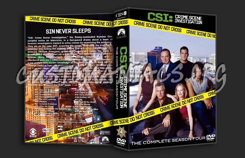CSI Season 4 dvd cover