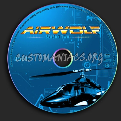 Airwolf - Season 2 dvd label