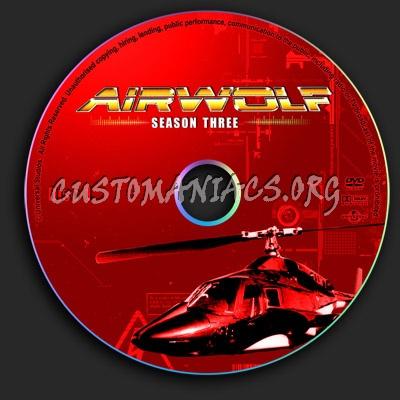 Airwolf - Season 3 dvd label
