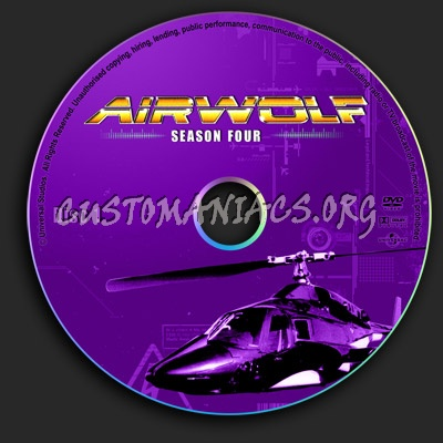 Airwolf - Season 4 dvd label