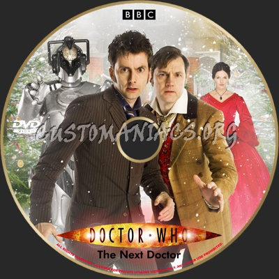 Doctor Who:The Next Doctor Christmas 2008 dvd label